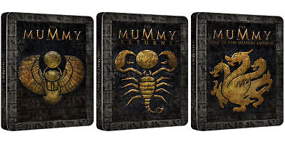The Mummy Trilogy (Blu-ray Steelbook) EMBOSSED BRAND NEW
