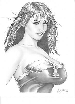 WONDER WOMAN Beautiful finished art  by DON MONROE