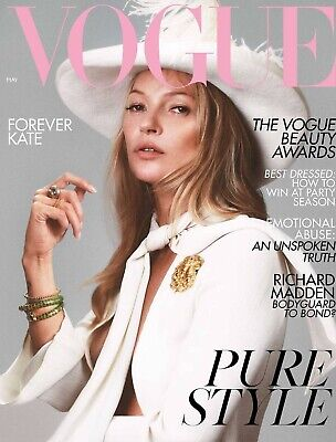 Vogue UK Magazine Kate Moss Covers May Issue Of British Vogue 2019 KATE MOSS