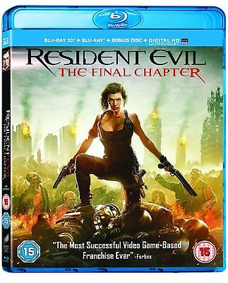 Resident Evil The Final Chapter (3D + 2D Blu-ray) BRAND NEW