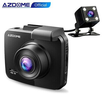AZDOME 4K Dash Cam 2160P Car Camera Camera Night Version Gps Cams With Rear Cam