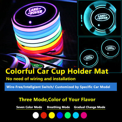 2pcs Colorful LED Coaster Atmosphere Car Light Bulbs For Land Rover Neon Lights