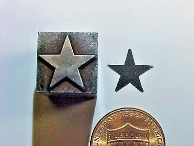 STAR Five Pointed Ornamental Dingbat Pentagon Flag OLD! Letterpress Printers Cut