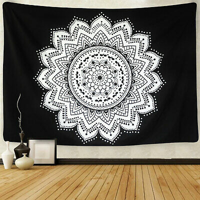 Hippie Mandala Tapestry Art Wall Hanging Psychedlic Tapestry Home Decor US Stock