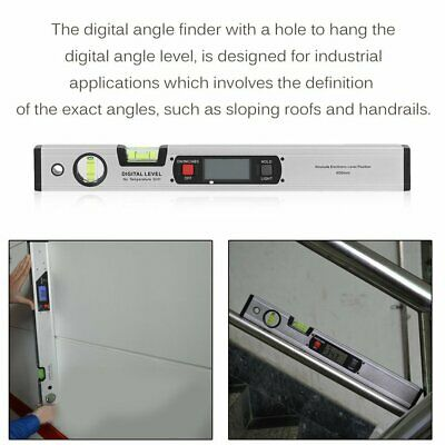 400mm Portable Size Aluminum Alloy Digital Level Protractor With Backlight TY