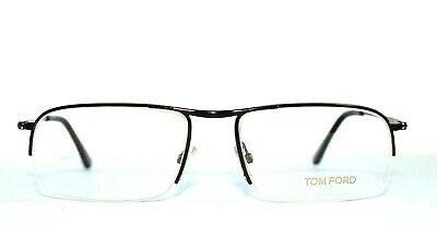 25adcc433171 New Authentic Tom Ford Tf 5211 048 Brown Semi Rimless Eyeglasses 55-17-140
