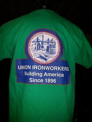 Union Ironworkers building America  structural reinforcing ornamental  size L