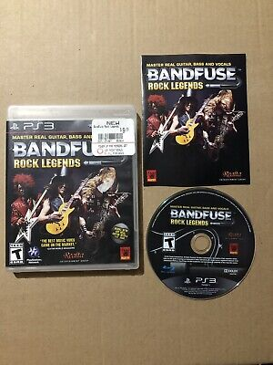 playstation 3 ps3 bandfuse rock legends game only! no cable!