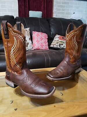a6a17963ab1 MEN'S ARIAT 10'' Brown R-Toe Sierra Saddle Cowboy Boots Size 7D (385 ...