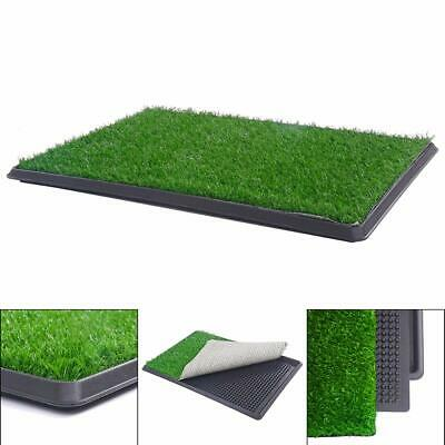 Pet Potty Training Grass Mat Dog Puppy Pee Pad Indoor Outdoor Toilet Tray 3Layer