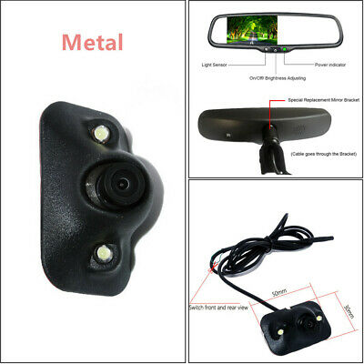 High Quality Car TFT LCD Rear View Mirror Monitor w/ Rear Camera Night Vision