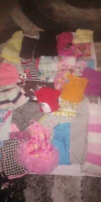 girls bulk lot clothes size 2-3 jumpers pants pj's shirts shorts and more