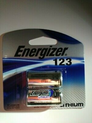 2 Pack Energizer Lithium 123 Cr123A 3V Photo Battery