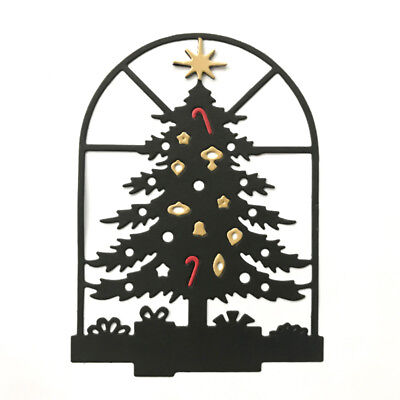Christmas tree window Metal Cutting Dies For DIY Scrapbooking Card Paper Albu JF