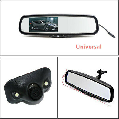 Metal Auto Dimming TFT LCD Rear View Mirror Monitor w/ Rear Camera Night Vision