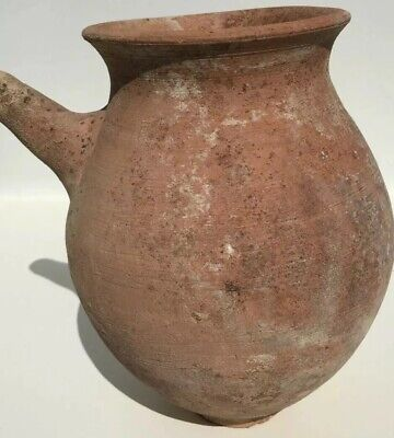 Holy Land Bronze Age I Large Terracotta Spouted Jar or Teapot Circa 3000-2500 BC