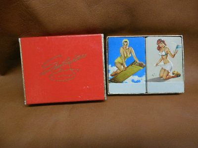 Spotlighters by Gil Elvgren Complete Two Deck of Playing Cards Pinup Double
