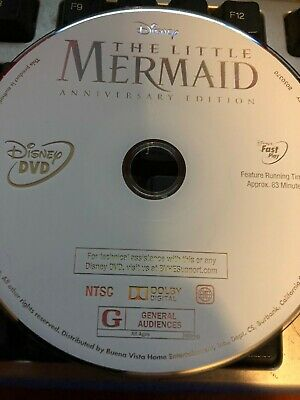 The Little Mermaid DVD DISK ONLY