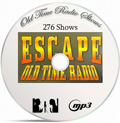 Escape 276 Old Time Radio Shows In MP3 Format Supplied On A DVD-OTR