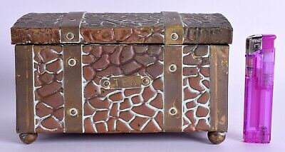 arts & crafts copper tea caddy antique caddy metalware soutter & sons style box