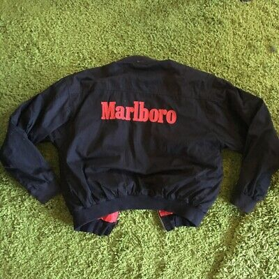 2e756c907 VINTAGE MARLBORO BLACK/RED reversible bomber spell out jacket size ...