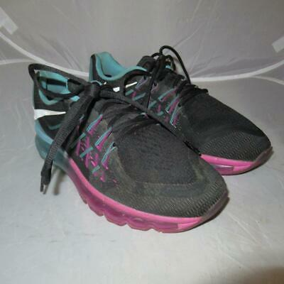 outlet store 58912 f4ee9 Nike Air Max 2015 Black White Clearwater Running Shoes it24 Womens Size 7.5