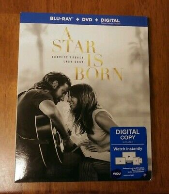 A star is born (2019) Blu Ray, Case And Slipcover Only (No DVD or digital code)