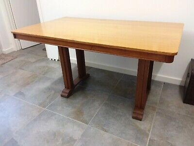 Vintage art deco circa 1940, solid timber dining table in VGC.