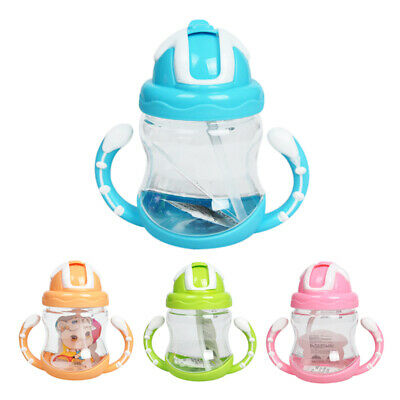 320ml Baby Bottle Kids Cup Silicone Children Training Cups Cute Baby Drinki D9H6