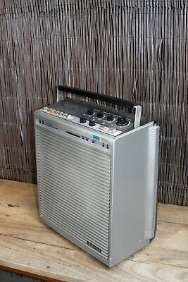 National Panasonic Portable Sound System WX-801 AGC/1 Cassette and PA