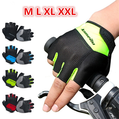 Half Finger Cycling Gloves Padded Shockproof Breathable Motorcycle Bike Gloves