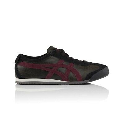 Onitsuka Tiger Mexico 66 Casual Shoes - Men's Women's Unisex - Dark Sepia/Port R