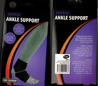 Deluxe Quality Ankle Stabilizer Support Brace Sprain Instability