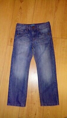 Marks And Spencer Boys Mid Blue Regular Fit Jeans Age 6/7 Years