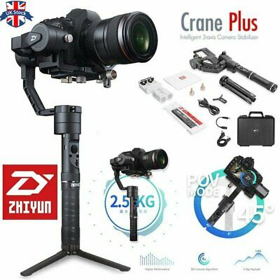 UK Zhiyun Crane Plus 3 Axis Handheld 360 Degree Gimbal Stabilizer for DSLR Cam