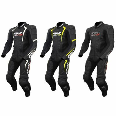 ARMR Moto Harada S One Piece Leather Racing Motorcycle Suit Track Performance