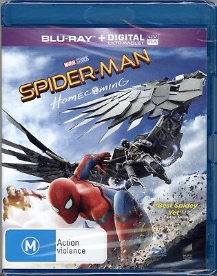 Spider-Man Homecoming - Blu-Ray - New And Sealed!