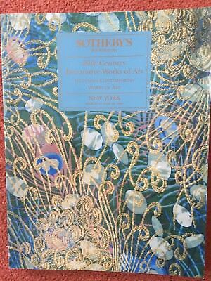 Sotheby's New York Auction Catalogue - 20th C Works of Art - 17 & 18 March 1995