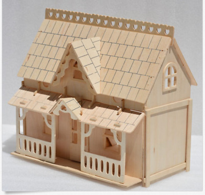 DIY Wooden Kids Dolls House Room Miniature Kit Toy Crafts Christmas Gifts
