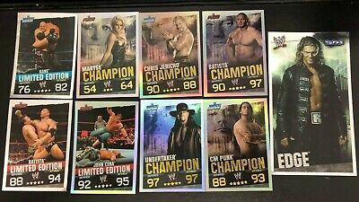 WWE Slam Attax Various Limited Edition & Champion Cards