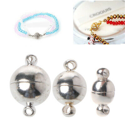 10pcs/lot Strong Magnetic Stainless Steel Ball Clasps Jewelry Making DIY Sliver