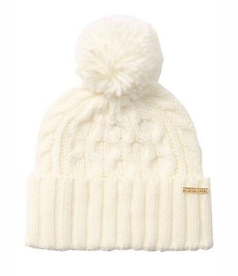 2ddf01bda NWT MICHAEL KORS Pointelle Cable Knit Hat.. Cream/Ivory..One Size ...