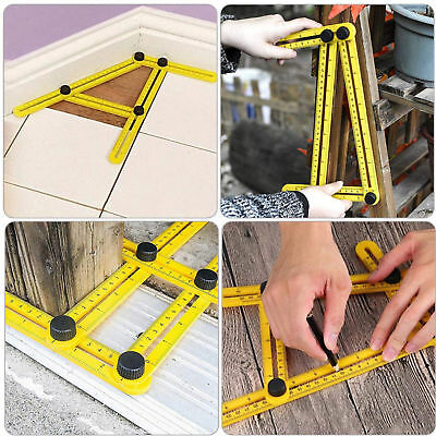 Angleizer Template Tool Measuring Instrument Four-Side Multi Angle Side Ruler UK