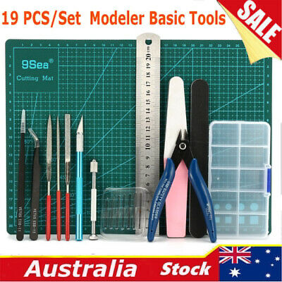 19pc Basic Tools Craft Set Model Building Repair Fix Set For Gundam Modeler Tool