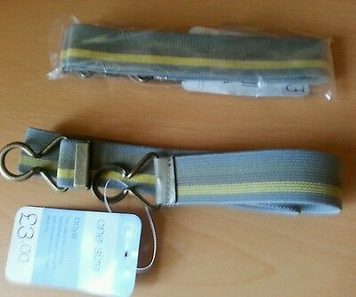 Mothercare, Elasticated Boys Belts, Fully Adjustable£3.00 In Shop. FREE POSTAGE.