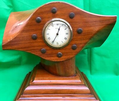 """c1920's - Large Propeller Mantel Clock- French 8 Day Movement """"Japy"""" WORKING"""