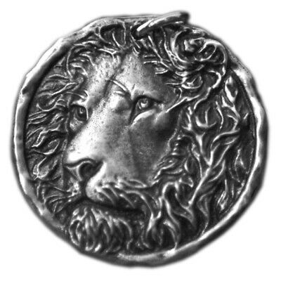 Western Mens Sterling Silver Lion LEO Fashion Jewelry Punk Pendant Necklace Gift