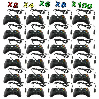 LOT Black Wired USB Game Pad Controller For Microsoft Xbox 360 PC Windows MY