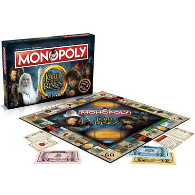 NEW Games Lord Of The Rings Monopoly Trilogy Edition