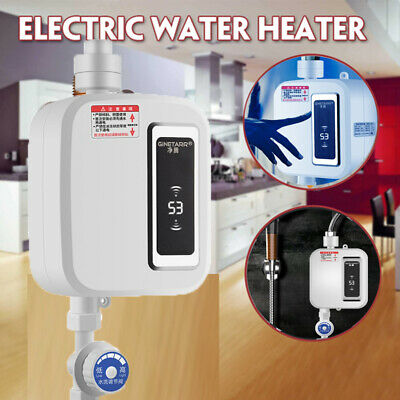 3500W Electric Tankless Instant Hot Water Heater Kitchen Bathroom Under Sink Tap